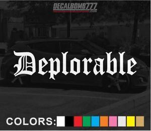 Deplorable-Old-English-Decal-Sticker-Vinyl-Turbo-Diesel-Turbo-Blower-Slam-Low