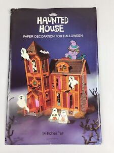 Vintage-American-Greetings-paper-Halloween-Haunted-House-Pop-Up-Fold-Decoration