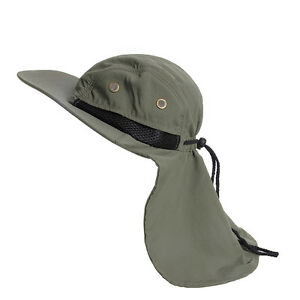 Hot-Fish-Boating-Hiking-Boonie-Hunting-Snap-Hat-Brim-Ear-Neck-Cover-Sun-Flap-Cap