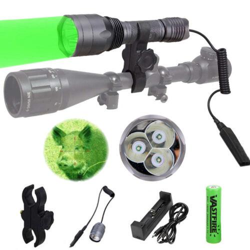 Tactical 3x XPE Flashlight Red Green Torch Light Coyote Hog Fox Night Hunting E