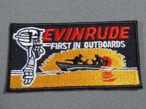 """EVINRUDE- First In Outboard Motors  Iron On  Jacket - Cap Patch 3"""""""