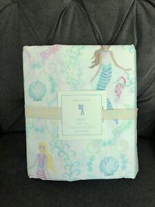 Pottery Barn Kids Bailey Mermaid Full Pink 4 Piece Sheet Set New Ebay