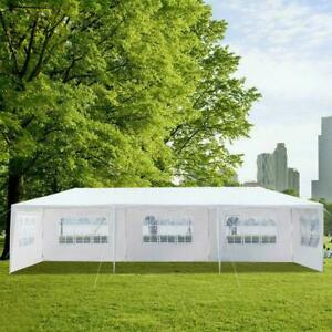 10X-30ft-Canopy-Wedding-Party-Tent-Gazebo-Pavilion-w-5-Walls-Cover-Outdoor