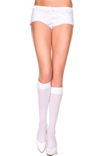 OPAQUE KNEE HIGH School Girl Stockings WHITE O//S