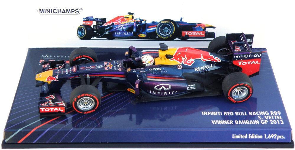 Minichamps Red Bull RB9 Winner Bahrain GP 2013 - Sebastian Vettel 1 43 Scale
