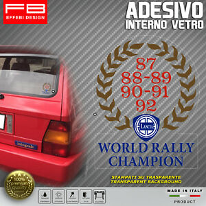 Adesivo-Stickers-LANCIA-World-Rally-Champion-Delta-Evoluzione-HF-Lunotto-Epoca