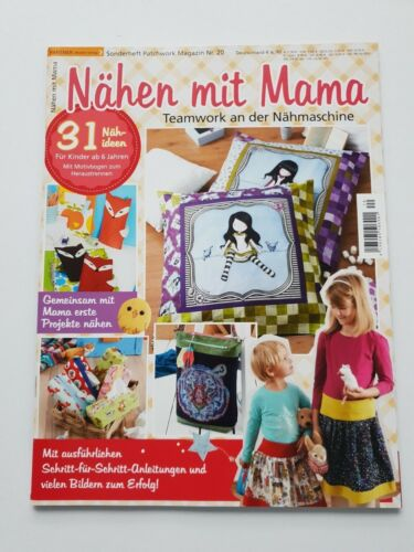 Patchwork rivista N 1a Top 12 QUADERNO cucire con la mamma 31 cuci-idee non letto