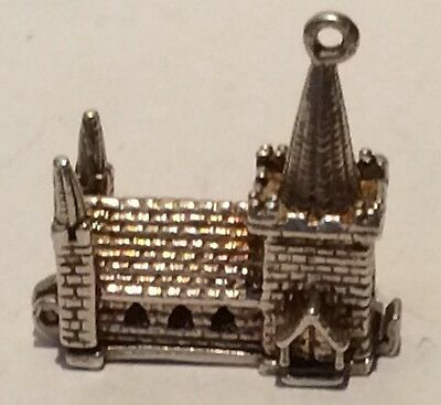 Earnest Lovely Large Vintage Articulated Silver Chapel/church Opens To Reveal Wedding Sale Overall Discount 50-70% Jewelry & Watches Fine Jewelry