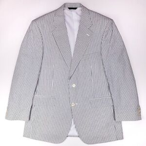 Brooks-Brothers-Seersucker-Sport-Coat-41R-New-Striped-White-Blue-Cotton-Nwt-Size