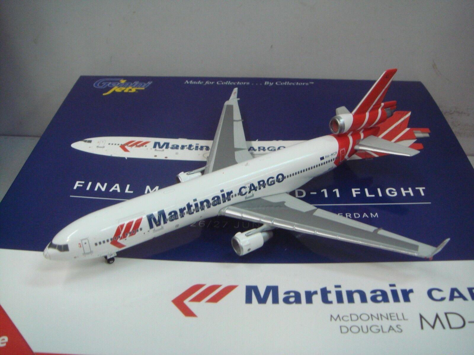 Gemini Jets 400 Martinair voiturego MD-11F   2005s Couleur - Farewell MD-11  1 400  Stade Cadeaux