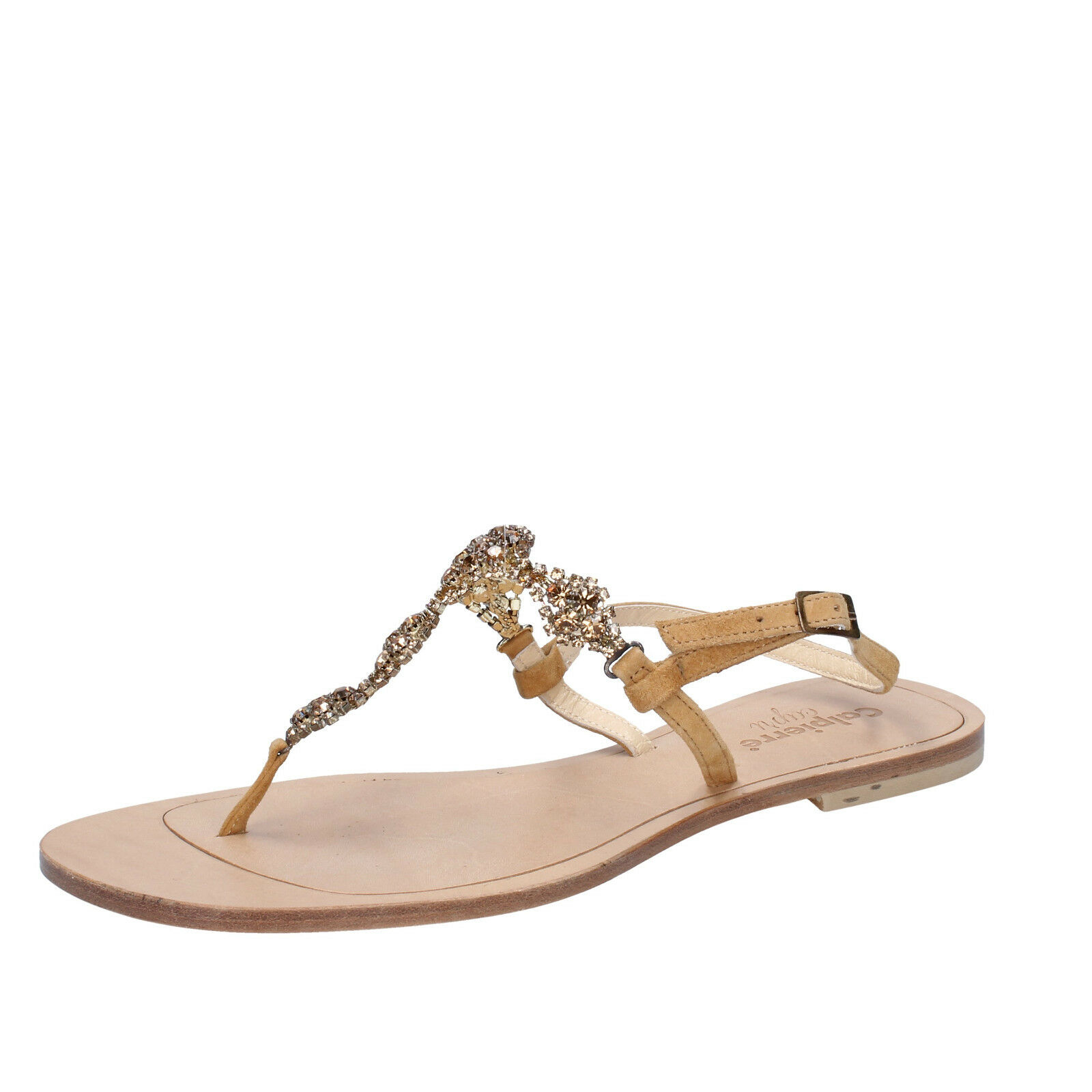 Scarpe donna CALPIERRE 40 EU sandali Marroneee camoscio BZ876