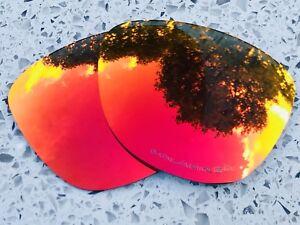 Grabado-Polarizado-Rojo-Fuego-espejadas-lentes-de-reemplazo-Oakley-Frogskins