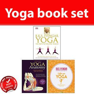 Details about Yoga books set Yoga The Path to Holistic Health, Yoga  Anatomy, Light on Yoga NEW