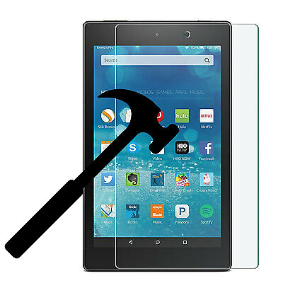 2 Pack Tempered Glass Screen Protector for Amazon All-New Fire 7 2017 7th Gen
