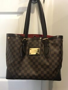 a722f1c0307d Image is loading Auth-Louis-Vuitton-Hampstead-MM-Damier-Ebene-Purse-