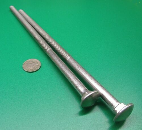 """18-8 Stainless Steel Carriage Bolt 2 Units Screw 3//8/""""-16 x 9/"""" Length"""
