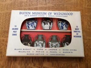 Wedgwood-Buten-Museum-folder-of-16-post-cards-complete-set