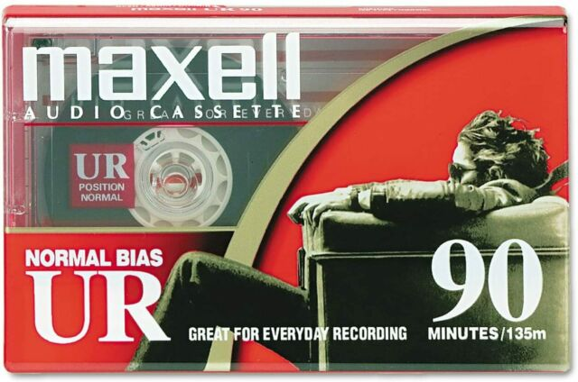 Maxell Dictation & Audio Cassette, Normal Bias, 90 Minutes