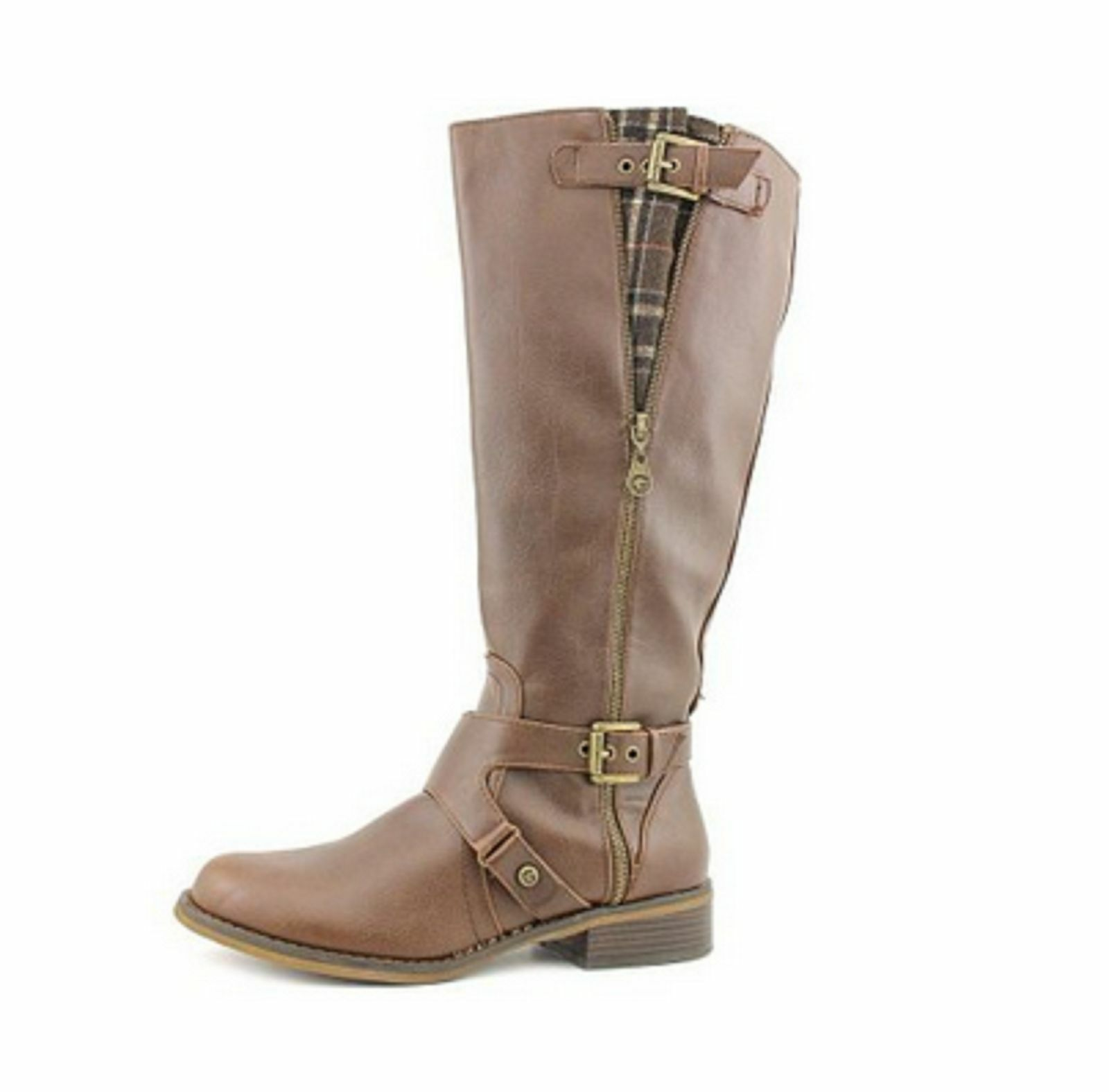 G By Guess Hertlez Womens Brown Faux Leather Fashion Knee-High Boots Size 5MW US