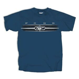 Ford-Mustang-Grill-NAVY-BLUE-Adult-T-shirt