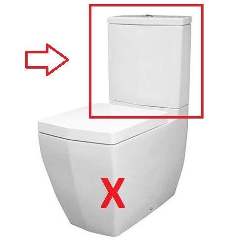 CG salle de bains RAK CrougeENZA Close Coupled toilettes-citerne-uniquement avec-out WC Pan Siège