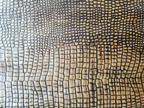 Leather Cuts Genuine Leather Hide Real Leather Hides /& Skin Brown Mock Croc