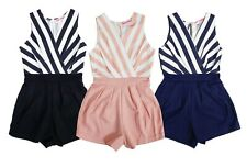 Kids Girls Party Outfit Playsuits Jumpsuits Romper Shorts Summer Age 4-14 Years