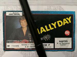 JOHNNY-HALLYDAY-Billet-Ticket-Concert-Nantes-1-Decembre-1987-TRES-RARE