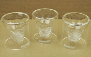Set-3-Stuck-Jagermeister-USA-Skull-Glas-Stamper-Schnapsglas-Totenkopf-Shot-Glass