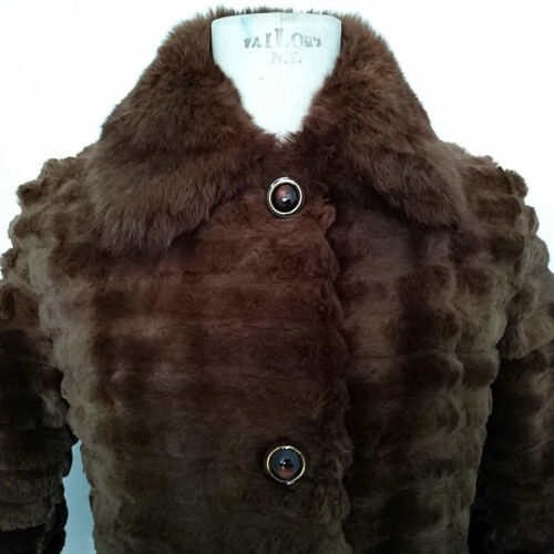 Mex En Vintage Lapin Fourrure Jackina m Pelliccia Pelz Art 6061 Tg faAH1x