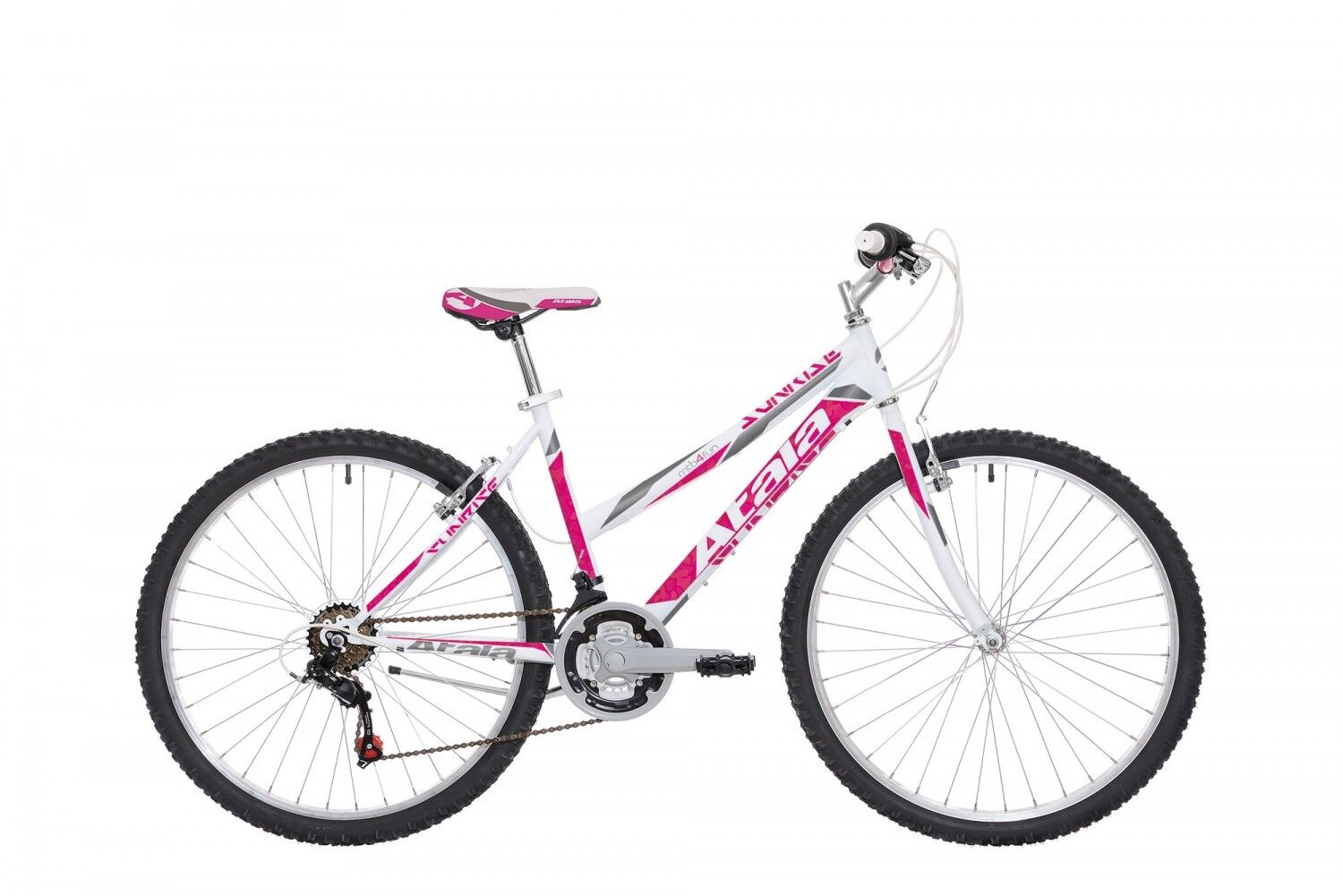 BICYCLE Mountain Bike MTB ATALA SUNRISE 26  2018 WOMEN'S Lady White Fuchsia