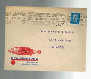 1929-Hamburg-Germany-Advertising-cover-to-Le-Havre-France-Ben-Einstoss-Fish