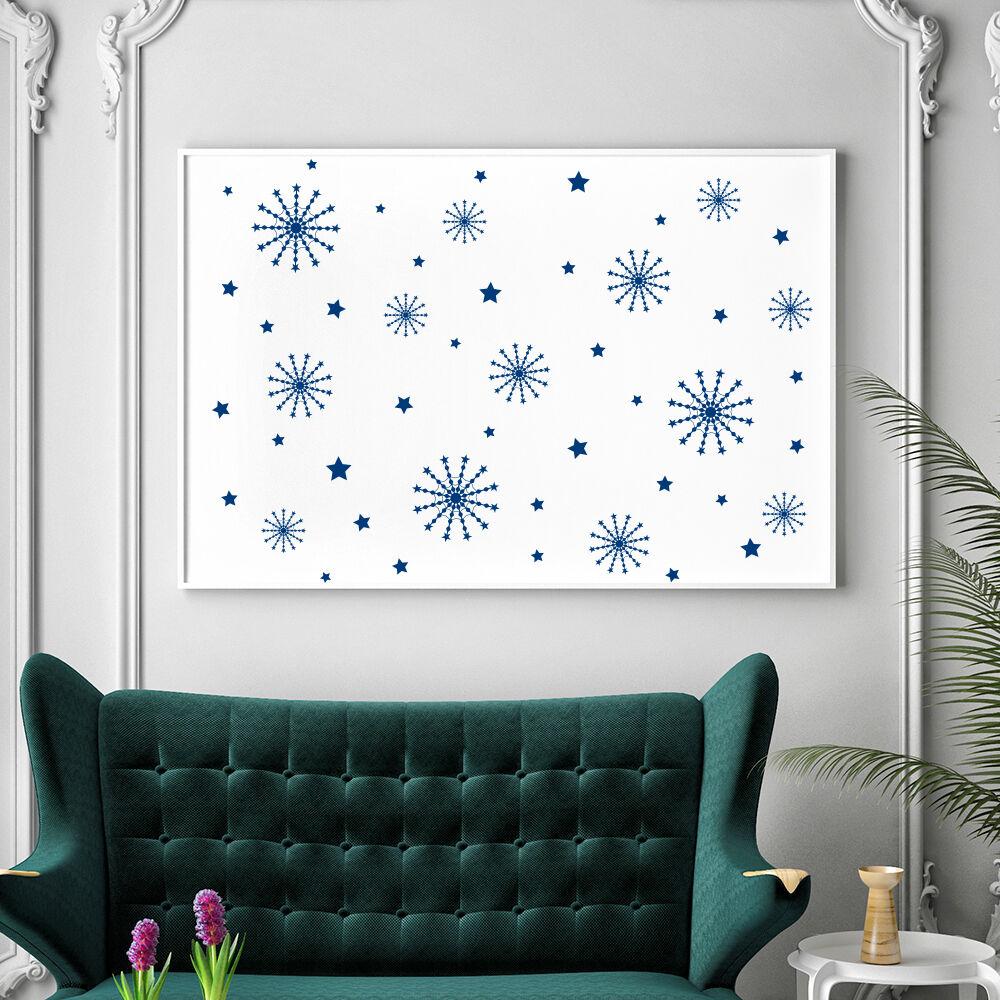 wand abziehbild Christmas Snowflake Set abziehbild Holiday Design Vinyl zuhause Decor MA333