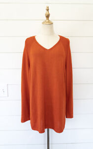 MARINA-RINALDI-SPORT-Made-in-Italy-Sweater-Top-Tunic-M-Medium-Orange