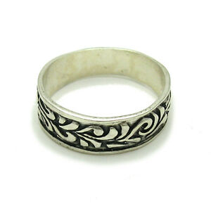 Sterling silver floral ring solid 925 R001688 Empress