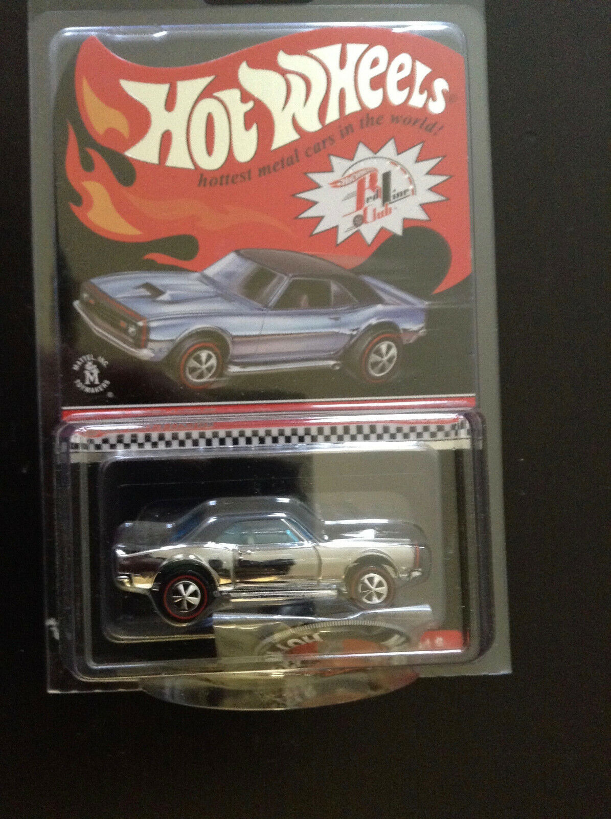 Hot Wheels 2013 RLC Copo Camaro club exclusivo Coche Cromo con insignia de  3000