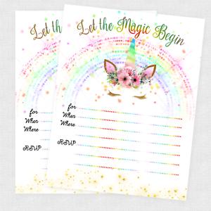 Unicorn invitations slumber party invites birthday invitation cards a imagem est carregando unicorn convites festa do pijama convida cartoes convite stopboris Gallery