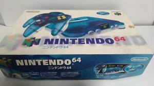 Nintendo-64-Clear-Blue-Console-Controller-cable-Japanese-with-Box
