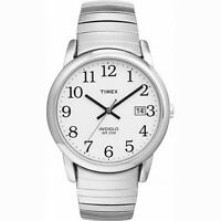 Men's Silver Tone Timex Watch With Date, Indiglo Light