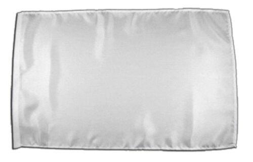 Einfarbig Weiß Banner weisse Fahnen Flaggen 30x45cm