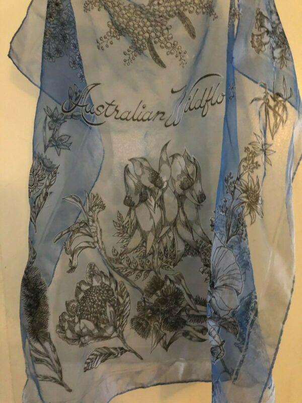 Korina Nylon Durchsichtig Blumen Wild Australischer Schal Japan Souveirs