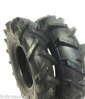 Two 4.00-8 Lug Tires & Tubes Garden Tillers 4 Ply Can Replace 4.80-8