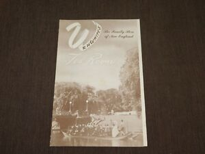 VINTAGE OLD DINING 1956 R H WHITE'S TEA ROOM NEW ENGLAND MASSACHUSETTS  MENU