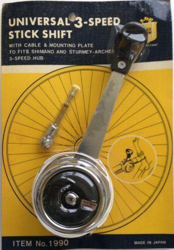 Palanca de Cambios Vintage Bicicleta Suntour 3-speed