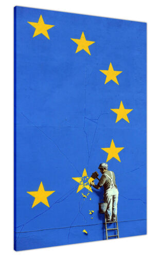 New Banksy Brexit Wall Graffiti on Framed Canvas Prints Wall Art Pictures