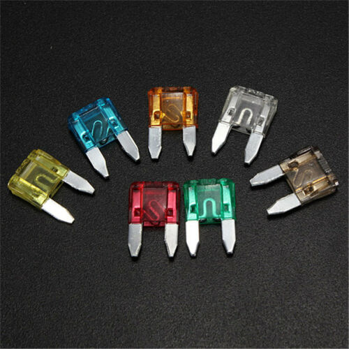 Car Truck Mini Zinc alloy blade Fuse Set Transparent Polyethesulfone enclosure