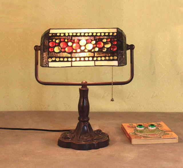 Tiffanylampe Schreibtisch Büro Tiffany Lampe Bürolampe Banker Tischlampe GN174GE