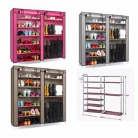 Portable Double Shoe Rack Closet Shelf Storage Organizer Cabinet 9 Layer Us