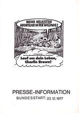 Lauf um dein Leben Charlie Brown Presseheft pressbook Race for your life Peanuts