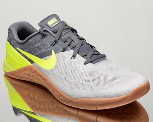 3cfeb1ab08731b Nike Metcon 3 III men training train gym shoes NEW dark grey volt ...